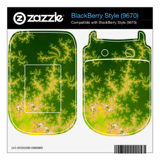 Glowing Green Fractal Decal For The BlackBerry