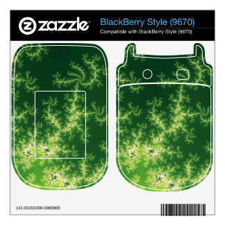 Glowing Green Fractal Skin For The BlackBerry