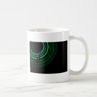 Glowing green mechanics coffee mugs