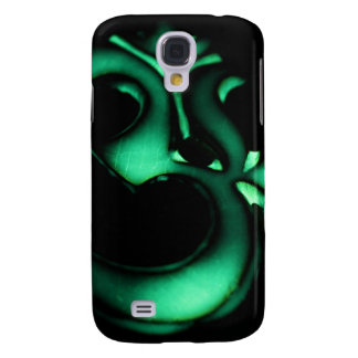 Glowing green Om symbol Galaxy S4 Covers
