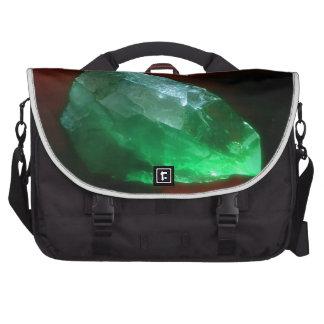 glowing green quartz crystal bag for laptop