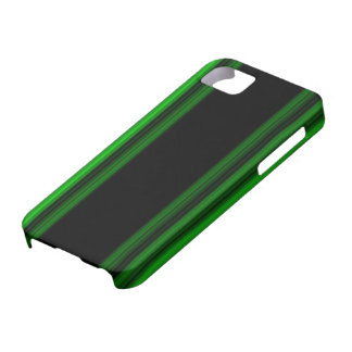 Glowing Green Stripes iPhone 5 Cover