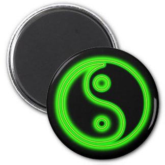 Glowing Green Yin Yang Magnet