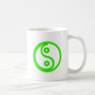 Glowing Green Yin Yang Mug