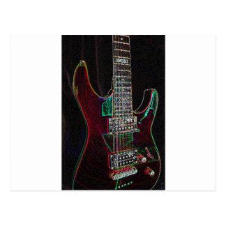 Glowing Guitar.jpg Postcard