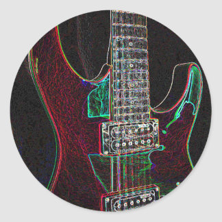 Glowing Guitar.jpg Sticker