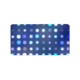 Glowing Halftone Dots Textured Label