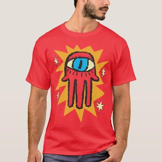 Glowing Hamsa Hand of God Evil Eye T-Shirt