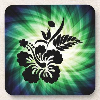 Glowing Hawaiian Flowers Coasters