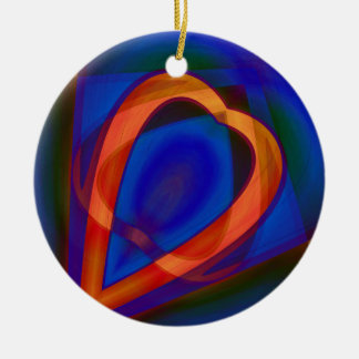 Glowing Heart by Tutti Ceramic Ornament
