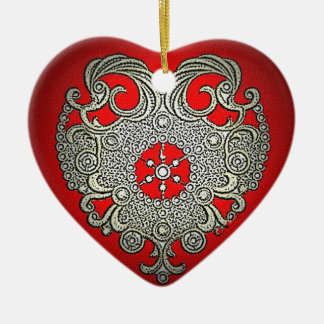 Glowing Heart Christmas Ornament