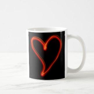 Glowing Heart Classic White Coffee Mug