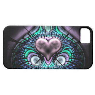Glowing Heart Fractal iPhone 5 Covers