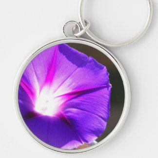 Glowing Heart Morning Glory Keychain