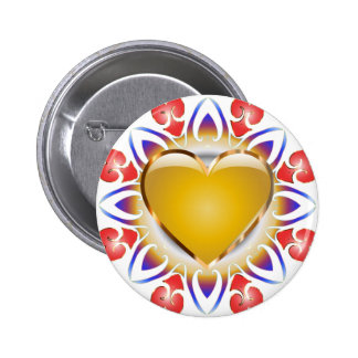 Glowing heart products. 2 inch round button