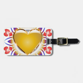 Glowing heart products. luggage tag