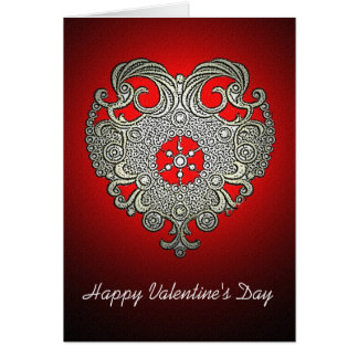 Glowing Heart Valentine's Day Card