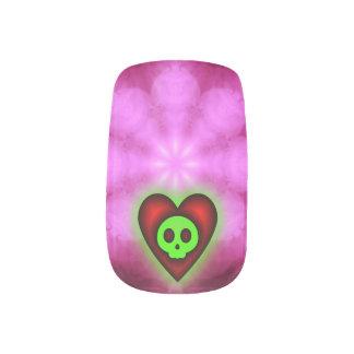 Glowing Hearts and Skulls Minx Nails Minx ® Nail Art