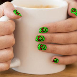 Glowing Hearts and Skulls Minx ® Nail Art