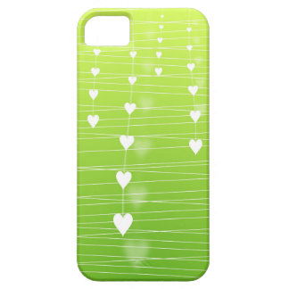 Glowing Hearts Green iphone case