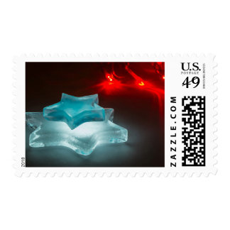 Glowing ice stars postage