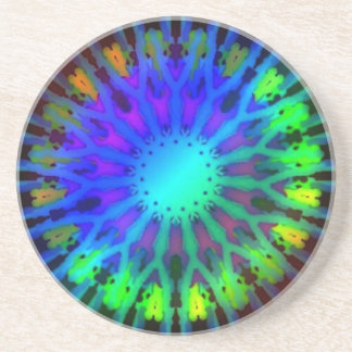Glowing in the Dark Kaleidoscope art Coaster