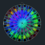"Glowing in the Dark Kaleidoscope art Dart Board<br><div class=""desc"">kaleidoscope's will take you back to your childhood days... </div>"