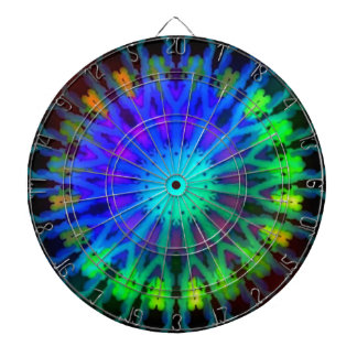 Glowing in the Dark Kaleidoscope art Dart Board