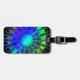 Glowing in the Dark Kaleidoscope art Tag For Bags