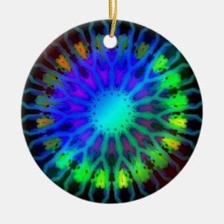 Glowing in the Dark Kaleidoscope art Christmas Tree Ornaments