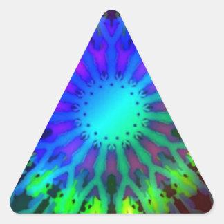 Glowing in the Dark Kaleidoscope art Triangle Sticker