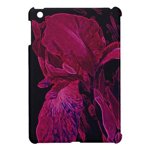 Glowing Iris in Deep Magenta and Black iPad Mini Case