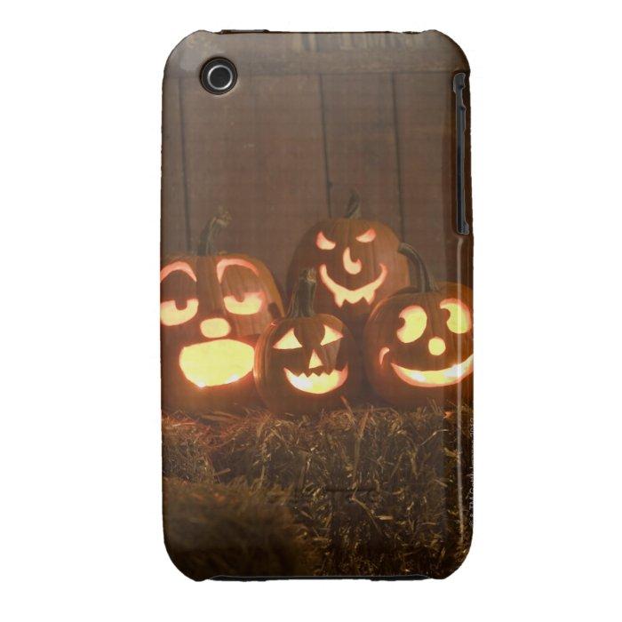 Glowing jack-o'-lanterns iPhone 3 case