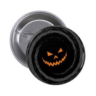 Glowing Jack OLantern Swirl Button