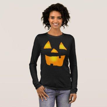 Halloween Themed Glowing Jackolantern 1 Long Sleeve T-Shirt