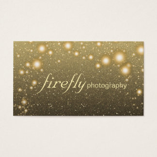 Glowing Jar Of Fireflies Night Stars Black Back Business Card