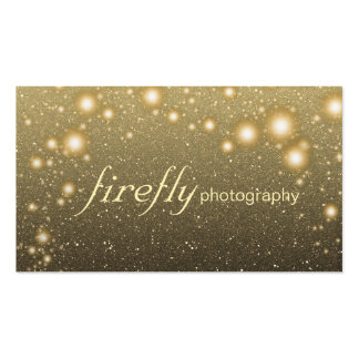 Glowing Jar Of Fireflies Night Stars Black Back Double-Sided Standard Business Cards (Pack Of 100)