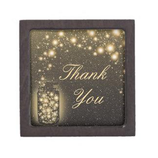 Glowing Jar Of Fireflies Night Stars Thank You Keepsake Box