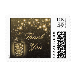 Glowing Jar Of Fireflies Night Stars Thank You Postage