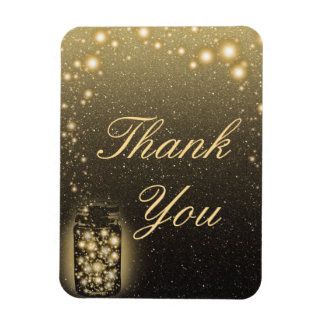 Glowing Jar Of Fireflies Night Stars Thank You Magnet
