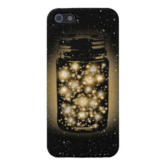 Glowing Jar Of Fireflies With Night Stars iPhone SE/5/5s Cover