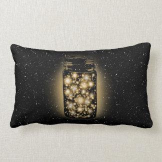 Glowing Jar Of Fireflies With Night Stars Pillows