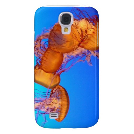 Glowing Jellyfish in Blue Water Samsung Galaxy S4 Cover