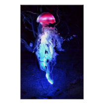 Glowing Jellyfish Poster