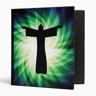Glowing Jesus Christ Silhouette Binder
