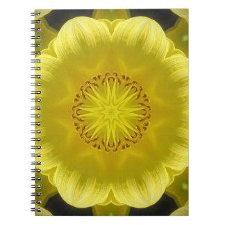 Glowing Kaleidoscope Lily Notebook