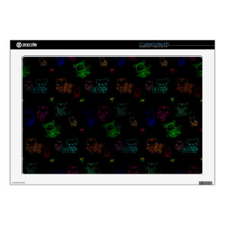 Glowing Kitty Decal For Laptop