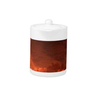 Glowing Landscape Teapot