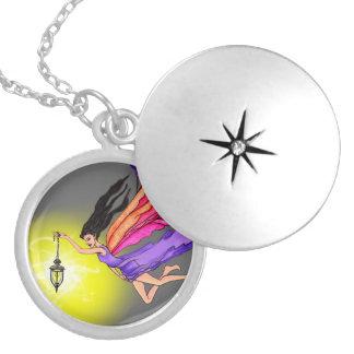 Glowing Lantern Fairy Locket Necklace