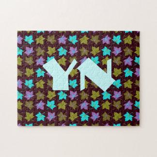 Glowing Leaves monogram Puzzle